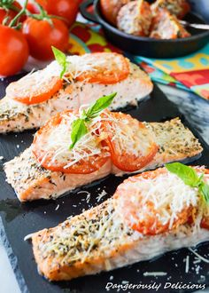 This Tomato Basil Salmon won our hearts from the first bite. It's super simple, gluten free and bursting with Italian flavor! A perfect weeknight meal that, from start to finish, takes 15 minutes! Whenever I say I'm making salmon for dinner, excitement is always heard from 4 of my children. One child, the same child…