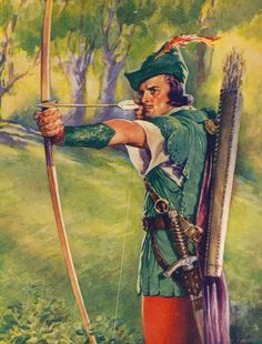 Robin Hood And The Information Angel. The picture of Robin is from about 1952. #Coincidence #RobinHood