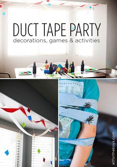 Duct Tape Party- decorations, games and activties!