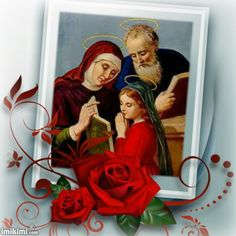 Saint Anne Holy Mother of Mary Mother of God was married to Saint Joachim