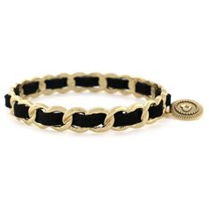 Bcbgeneration Black Gold-Tone Black Woven Bangle Bracelet ($28) ❤ liked on Polyvore featuring jewelry, bracelets, black, gold tone jewelry, hinged bangle, charm jewelry, hinged bracelet and black jewelry