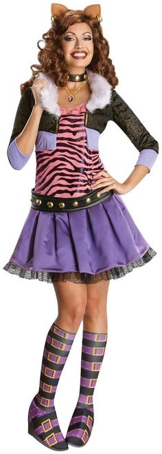 Girlu0027s Draculaura Monster High Halloween Costume | Pinterest | Draculaura costume Cartoon costumes and Halloween costumes  sc 1 st  Pinterest & Girlu0027s Draculaura Monster High Halloween Costume | Pinterest ...