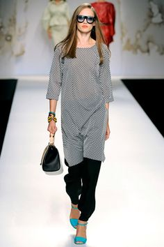 Style Hunter: Dresses Over Pants    Easy does it, at Fendi.