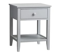 Emerson Nightstand, Soft Gray, Unlimited Flat Rate