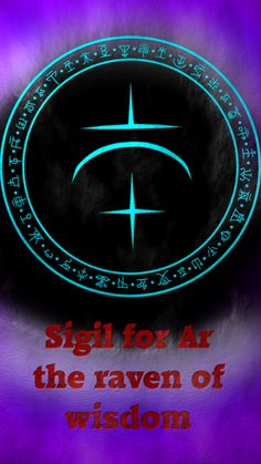 Sigil for Ar the raven of wisdom This is one of the Ravens of antimony: wolfofantimonyocc. Raven Of Wisdom: Witch Symbols, Magic Symbols, Viking Symbols, Egyptian Symbols, Viking Runes, Ancient Symbols, Wiccan Spell Book, Magick Book, Wiccan Witch