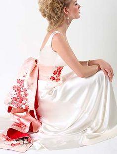 obi with a traditional western dress- RAD! #JustFabinlove #Wedding …