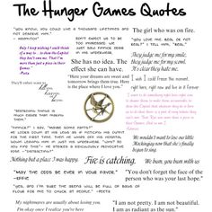 The Hunger Games Quotes best books ever. I've read them 7 and a counting times and they never get old.