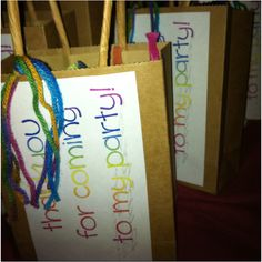 Rainbow party goody bags :)