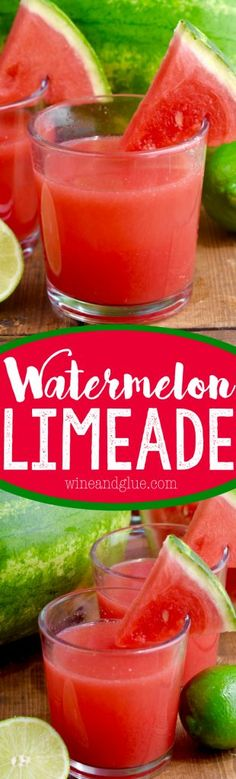 This Watermelon Limeade is a super refreshing and delicious kid-friendly drink!