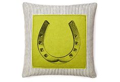 Horseshoe 20x20 Pillow, Green on OneKingsLane.com