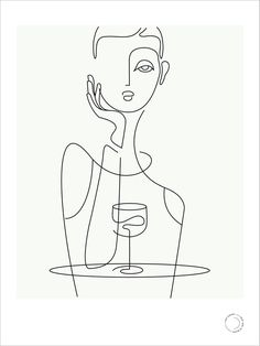 Limited Edition Giclée Prints Illustrated by designer Lisa Sloane, 'that girl in black' Minimal Drawings, Easy Drawings, Face Line Drawing, Abstract Face Art, Dancing Drawings, Pinturas Disney, China Art, Art Graphique, Graphic