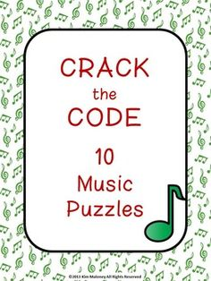 Music Puzzles: Crack the Music Code (North American terminology) various symbols, notes and rests