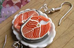 Superfoods Collection: Omega-3 Salmon Earrings