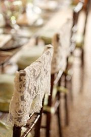 lace covered chairs, love.