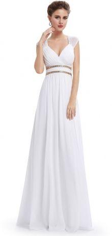 Ever-Pretty plesové šaty Antická bohyně, bílé