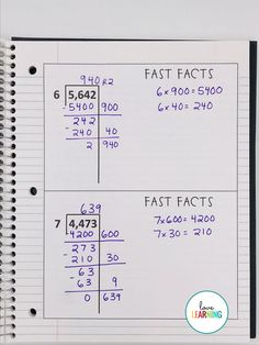 Teaching fifth grade students long division with these activities is simple! This division unit includes both the partial quotient method and the standard algorithm for dividing whole numbers with two digit divisors. Math Division, Long Division, Division Strategies, Partial Quotient Division, Teaching Division, Teaching Numbers, Teaching Math, Kindergarten Math, I Love Math