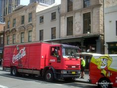 Coca-Cola Amatil delivery truck in Sydney Australia