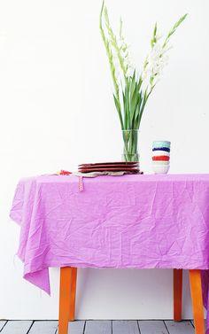 veggie dyed linens