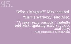 Alec Isabelle and Max Lightwood talking about Magnus.  This part was hilarious~ The Mortal Instruments