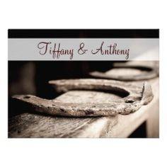 Horseshoe Wedding Invitations - Rustic Country Wedding Invitations