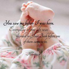 (via Carole) Psalm 139:16 .