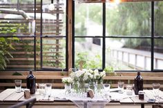 Beautiful bridal table at the Farm Cafe.