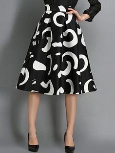 Falda Floral cintura alta-negro-Spanish SheIn(Sheinside)