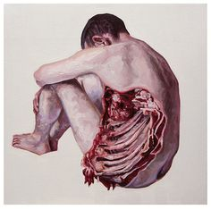art painting gore Anatomy Macabre Gonzalo García asylum-art •