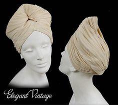 Vintage 30s - 40s Silk Turban * 23 *Very Madame Grès