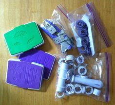 Wilton rolled fondant cake decorating tools (used): ribbon cutter, embosser/punch, 2 button flower cut & press sets, rose leaf cut and press, and decorative press (like a clay press but for fondant/gum paste)