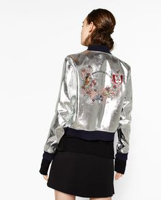 Image 2 of EMBROIDERED BACK JACKET from Zara