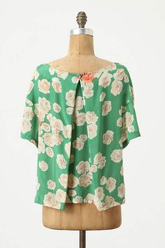 Carolinae Top - anthropologie.com | Love the button detail on the back - would be easy to do!