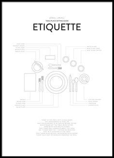 Etiquette, poster