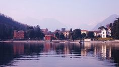 Some of the beautiful villas around the lake Como as seen from our sail on the lake