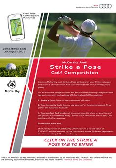 Rules of the McCarthy Audi Strike a Pose competition