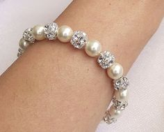 Swarovski Bridal Bracelet Bridesmaid by nefertitijewelry2009, $36.00
