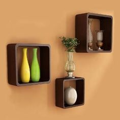 Set Of 3 Cube Shelves from Home Sparkle | Wall Shelves | home-and-kitchen-store | HomeShop18.com
