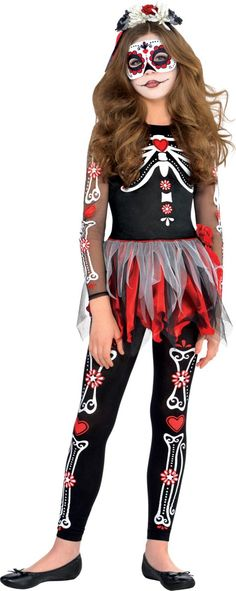 Girls Day of the Dead Costume - Party City