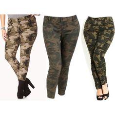 Camo Pants - Plus Size