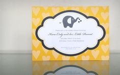 Super cute free printable baby shower invitations with address label and envelope liner.