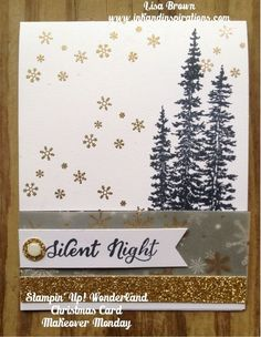 Beautiful Wonderland set from Stampin' Up! set from the holidays and beyond! www.inkandinspirations.com