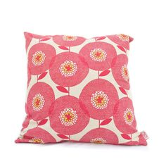 Cushion cover 50x50cm  Flower Field in Rosy von skinnylaminx by Heather Moore