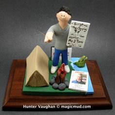 Husbands 30th Birthday Gift   www.magicmud.com 1 800 231 9814 creating a custom made gift figurine for any man based on the things he likes to do! ...incorporating his work, sports, family, hobbies, food, drink, electronic gadgets, etc. $225 #30th_birthday #dad #men #guys #christmas #birthday #anniversary #custom #personalized #xmas #present #award #ChristmasGift #BirthdayGift #husband