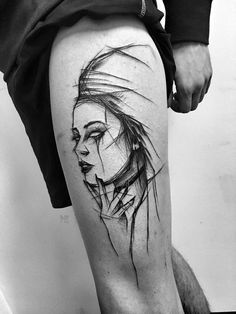 Inez Janiak sketch tattoos
