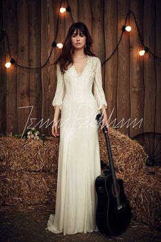Jenny Packham wedding dress with short sleeves, Spring 2017 Bridal ...