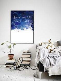 Printable Good Night Sleep tight poster by PrintablePixel on Etsy