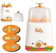 Đồ dùng cho me - Máy hâm sữa: Máy hâm sữa siêu tốc đa năng 2 bình Fatzbaby