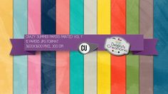 Crazy Summer Papers Painted Vol 1 by Debora's Creations (CU)