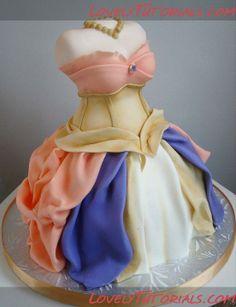 "МК торт ""3Д фигурка девушки"" Carved doll figurine cake tutorial - Мастер-классы по украшению тортов Cake Decorating Tutorials (How To's) Tortas Paso a Paso"