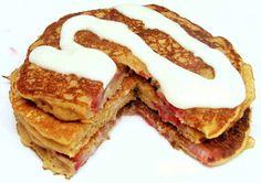 stawberry cheesecake pancakes kerstin sinkevicius cake batter and bowl blog